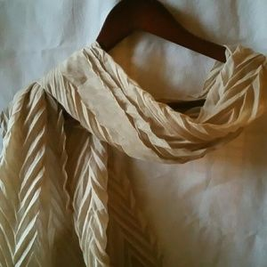 Accessories - Tan Crinkle Fabric Scarf